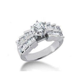 3.01 carat diamonds anniversary ring gold white